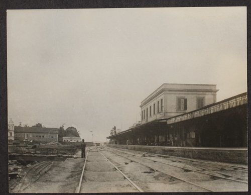 Estação da Luz em 1890, ainda sem a torre do relógio (Arquivo Público do Estado)