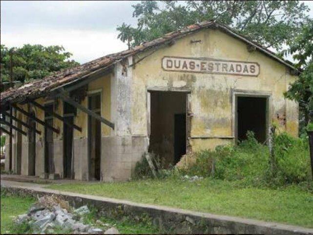 A estação no município do interior da Paraíba antes do início do processo de restauração (Divulgação)