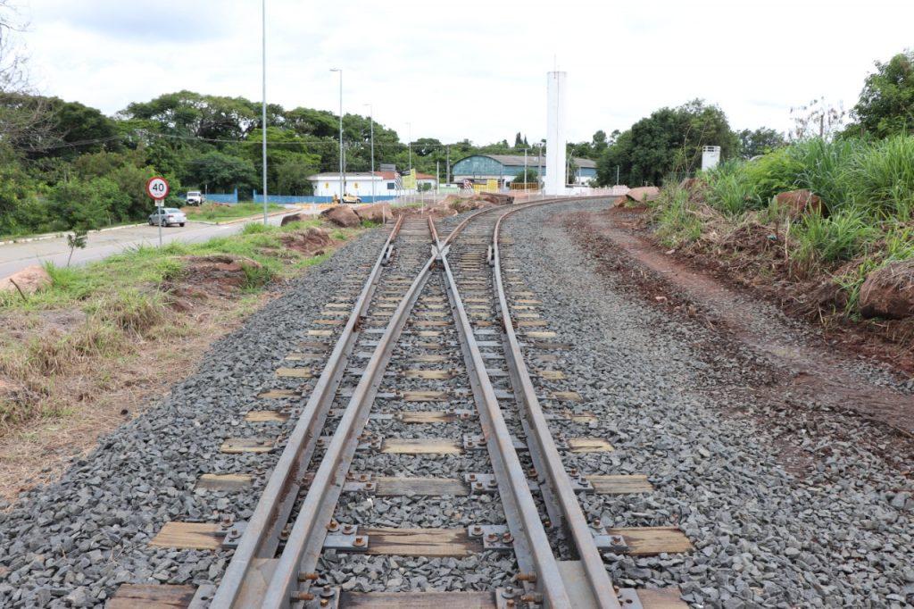 Trilhos implantados entre Salto e Itu, para a operação do Trem Republicano (Divulgação)