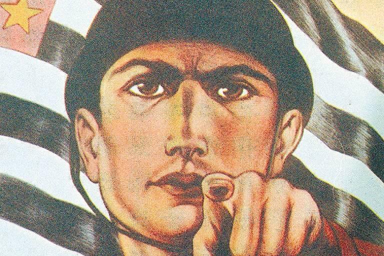 Cartaz do MMDC que convocava os paulistas a combater o governo de Getúlio Vargas em 1932 (Reprodução)